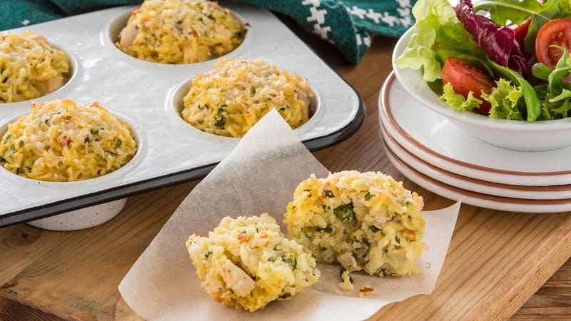 Chicken & Basil Rice Cakes Recipe