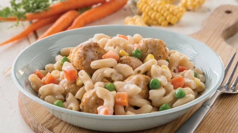 Chicken Meatballs Recipe with Macaroni