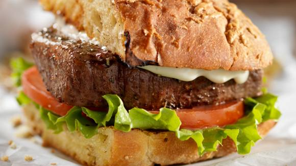Steak Sandwiches with Balsamic Onions