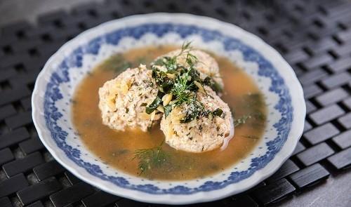 Chicken meatballs with Risoni