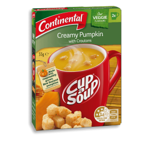 Creamy Pumpkin with Croutons