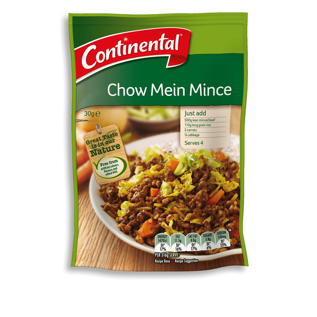 Chow Mein Mince Recipe Base Continental