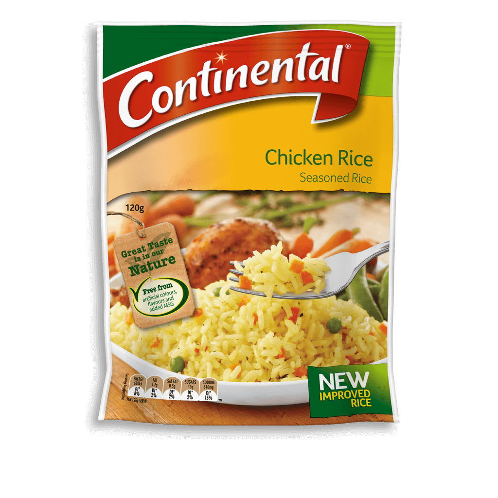 Chicken rice rice continental for Rice side dishes for fish