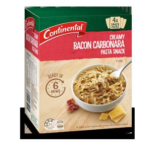 Creamy Bacon Carbonara Pasta Snack